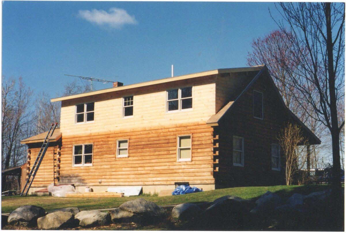 log cabin addition 2