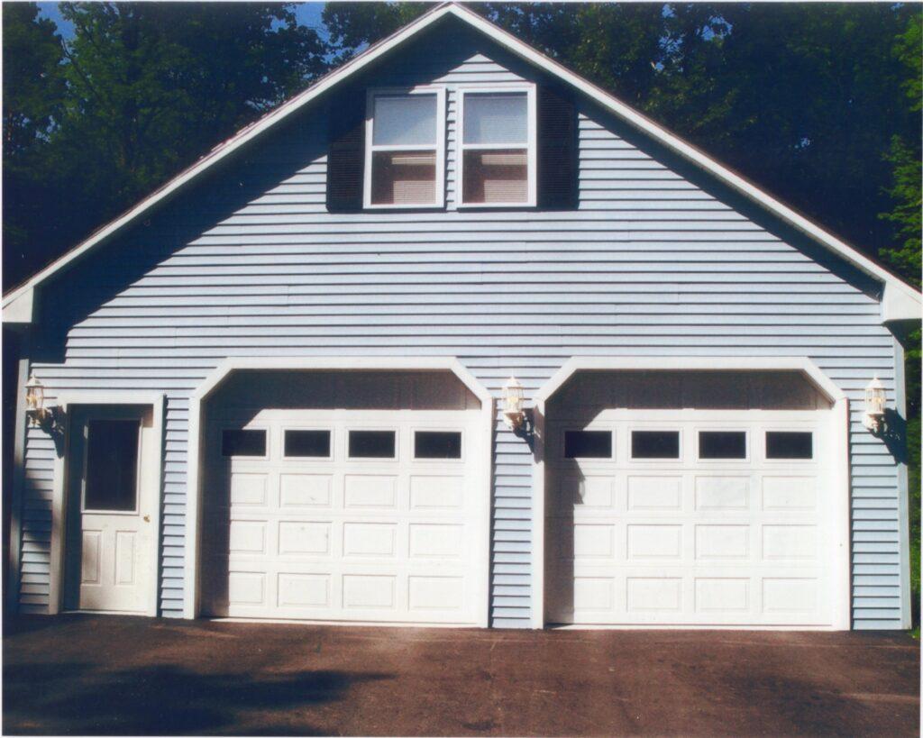 Garage front view